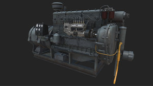 3D model old diesel generator