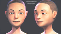 female face poser 3D