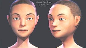 female face poser 3D