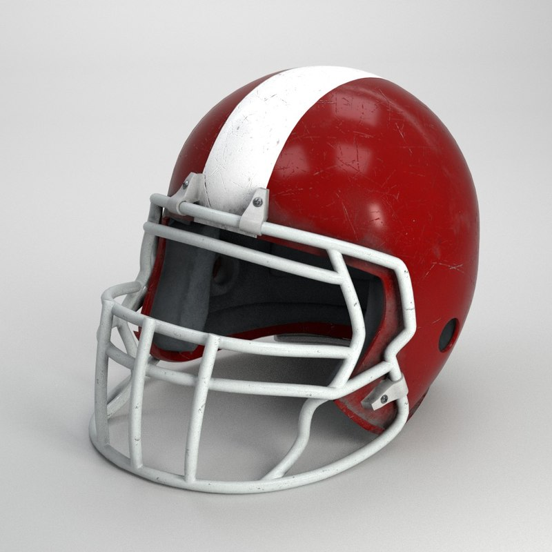 old american football helmet model
