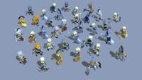 33 Animated Skeletons Set