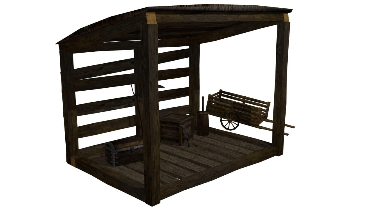 medieval storage spot 3D model