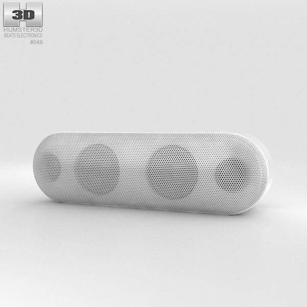 3D beats pill white model