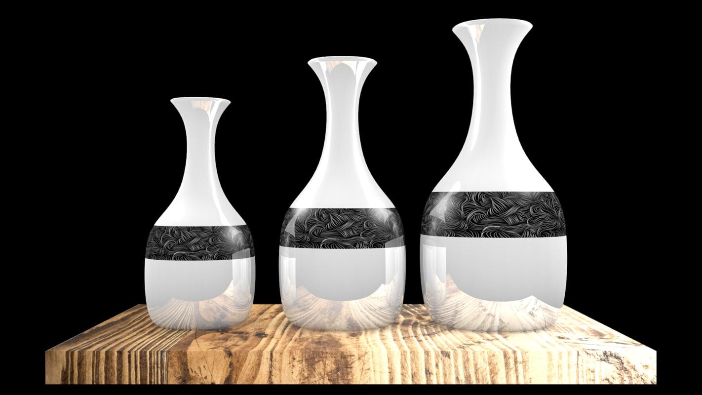 3D vase wood