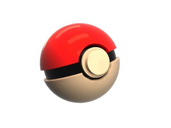 3D pokeball ball model