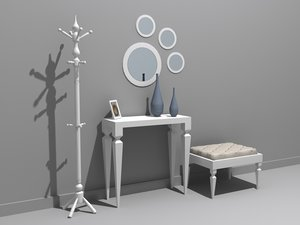 hall furniture model