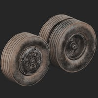 truck wheel dirty 3D model