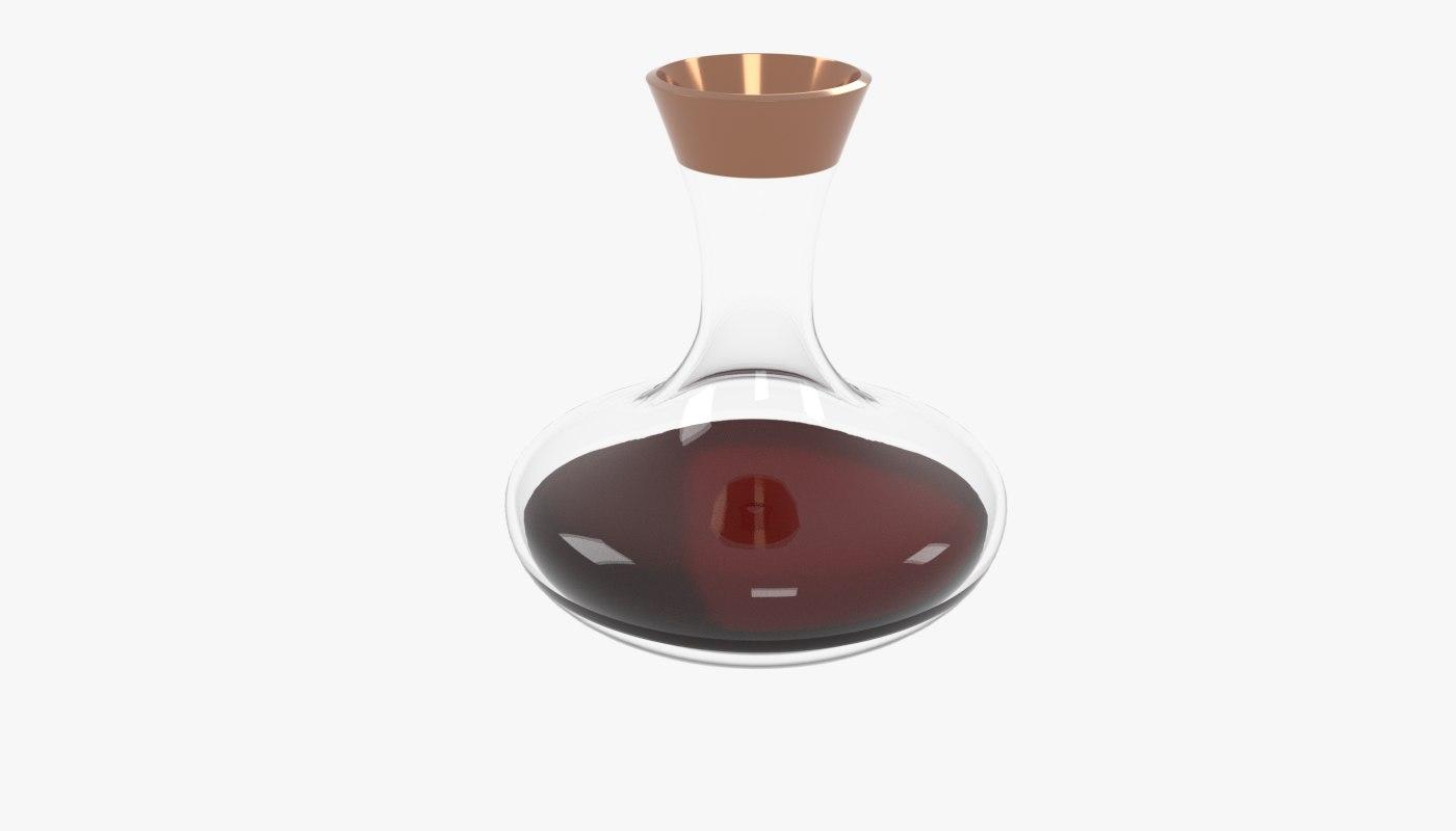 3D decanter wine model
