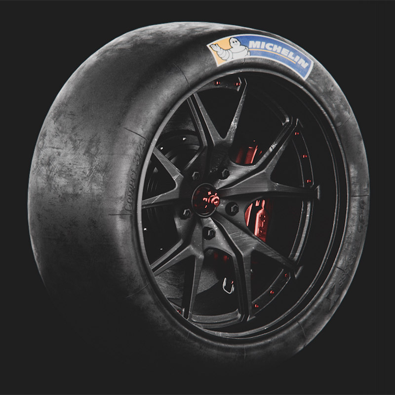 racing wheel michelin tyres 3D model