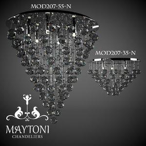3d model chandelier lamps modern