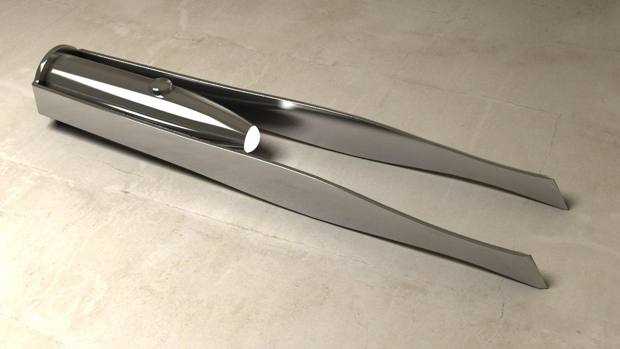 3D model tweezers led light