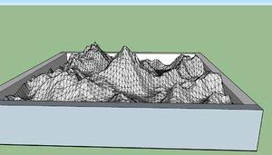 3D mountain k2 model
