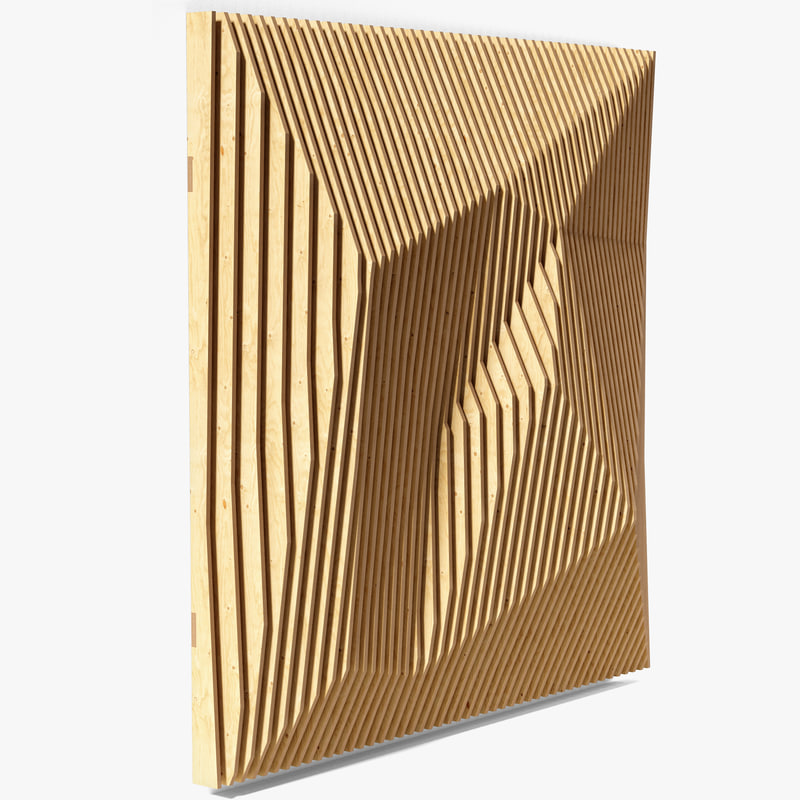 3D parametric wall 04 model
