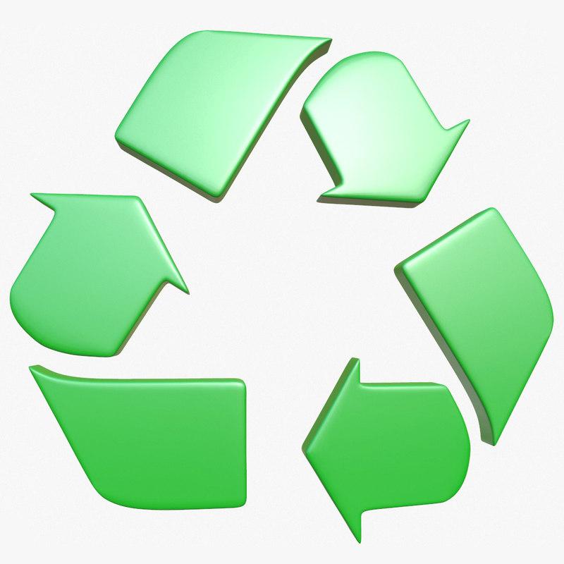 recycle logo 1 3D model