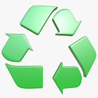 recycle logo 1 3D model