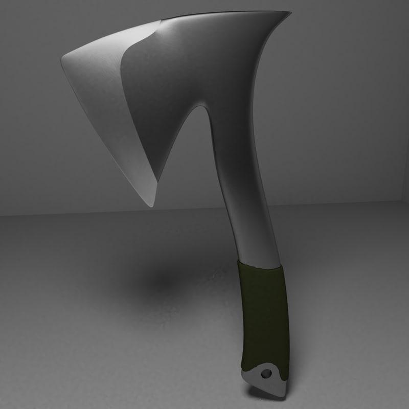 3D model axe battle