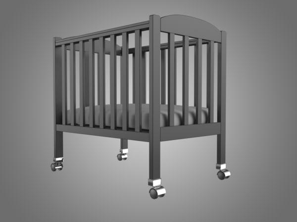bed baby 3D