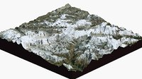 mount everest large 3D model