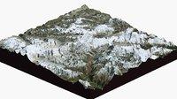 mount everest large 3D model