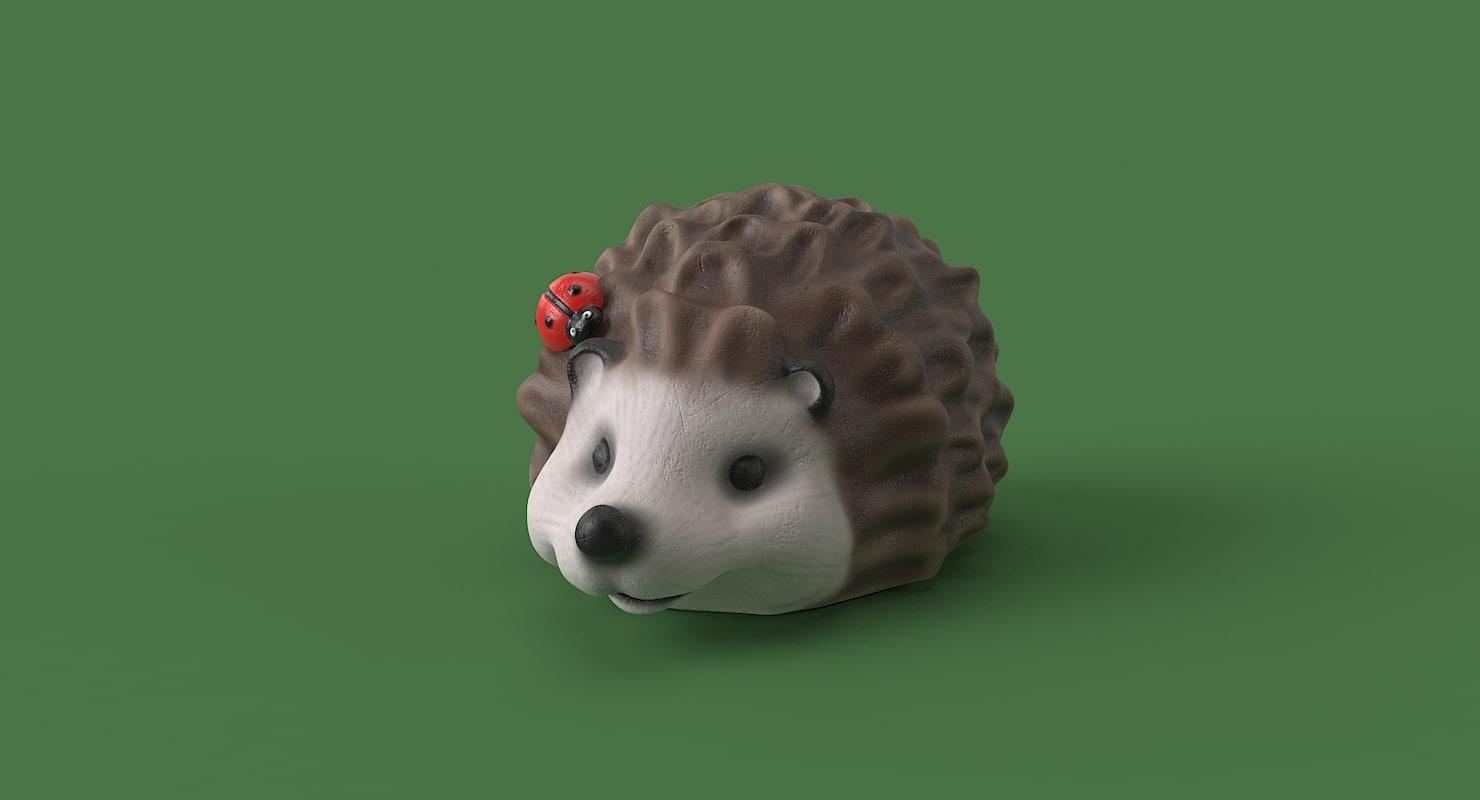 3D model garden hedgehog