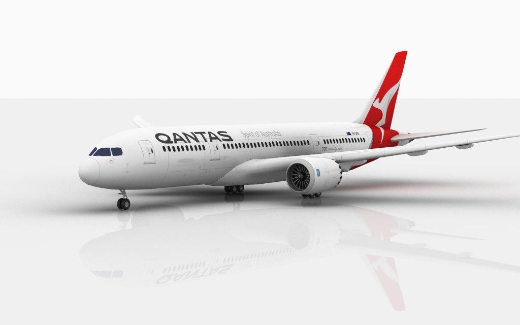 3D boeing 787 dreamliner