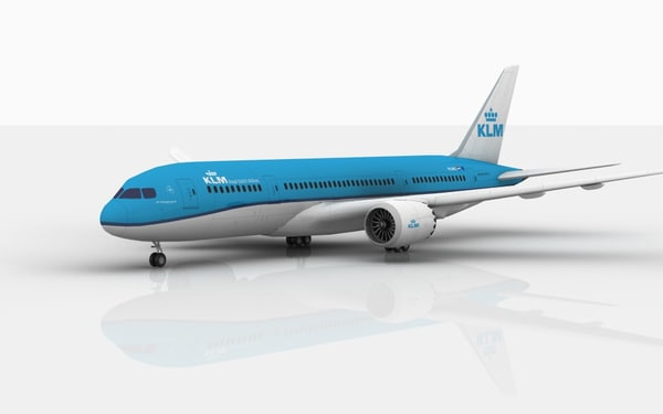 3D boeing 787 dreamliner klm