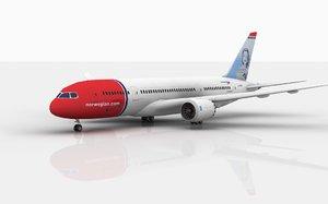 boeing 787 dreamliner norwegian 3D model