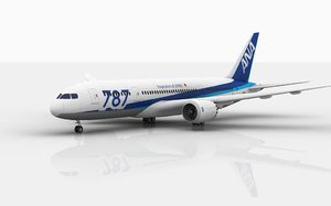boeing 787 dreamliner ana 3D model