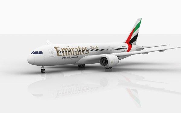 3D boeing 787 dreamliner emirates