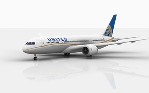 3D model boeing 787 dreamliner united
