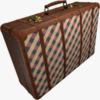 retro style leather suitcase 3D model