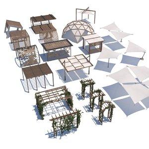 3D pergola shade sail