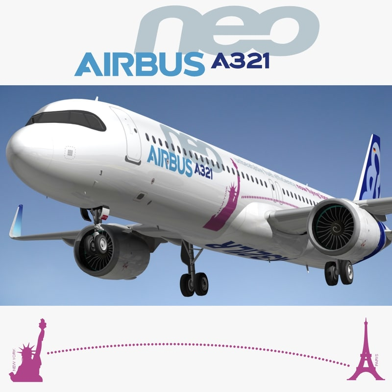 3D airbus a321lr neo