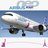Airbus A321 3D Models for Download | TurboSquid
