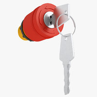 emergency stop key 3D model