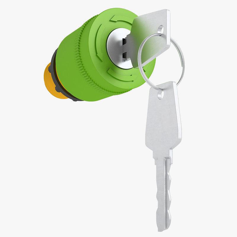 emergency stop key 3D