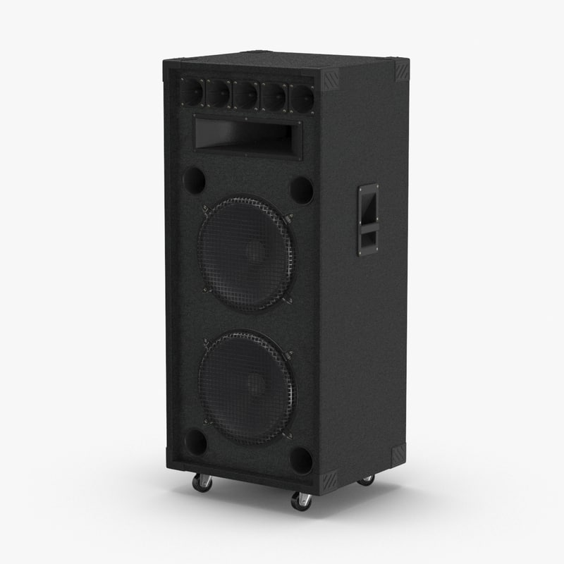 stage-speaker-01 3D