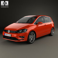 3D volkswagen golf sportsvan model