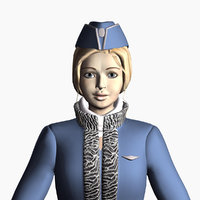 3D girl uniform model