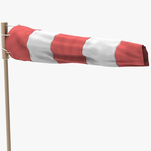 sock windsock wind 3D model