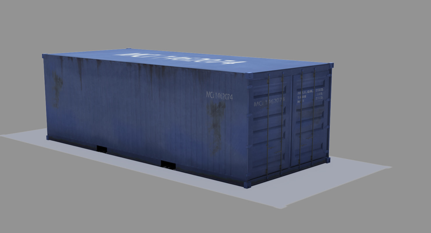 3d container shipment model