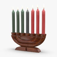3D kwanzaa-candelabra-and-unity-cup---candelabra