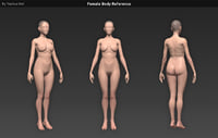 Human Female Body Reference