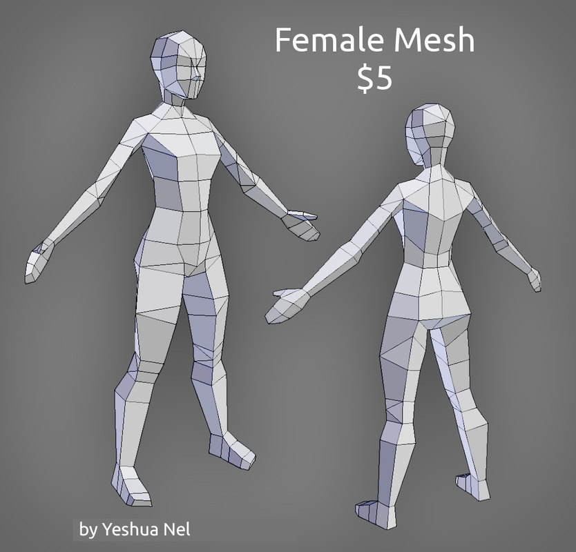 3D female sale uv model