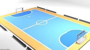 3D court futsal model