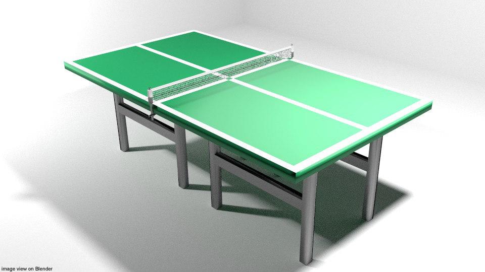 3D court table tennis