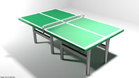 3D court table tennis