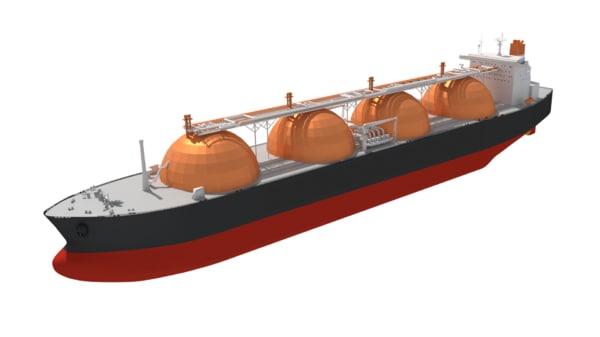 lng carrier moss type 3D model