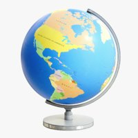 3D lightwave globe model