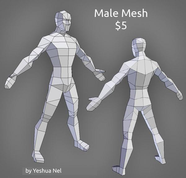 male sale uv 3D model